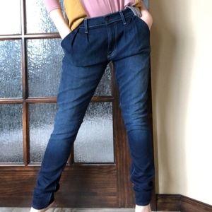 7 FAM Jeans Pleat Front Retro Vintage Trouser